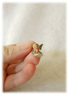OOAK Micro Miniature Baby Fairy on Spoon Pixie Fantasy Art Sculpture Iadr | eBay