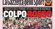 Rassegna stampa 26 marzo, prima pagina della Gazzetta dello Sport
