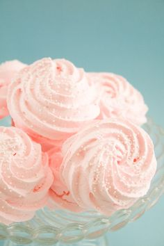 Meringues. would look so pretty on cupcakes and cakes