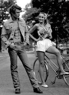 A young Tom Berenger and Jerry Hall by Stan Shaffer. He looks a bit like Max Irons, vice versa.