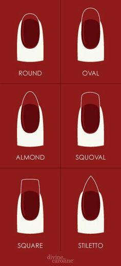 Nail Shapes || I keep mine round or almond