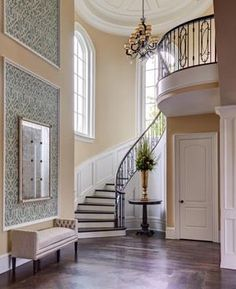 Adorable staircase in custom luxury home