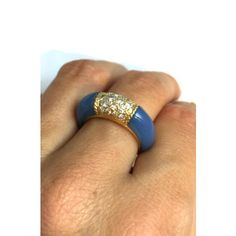 Bague Philippine Van Cleef & Arpels Bleu Or jaune A135432