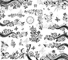 Black And White Design Elements Royalty Free Cliparts, Vectors, And Stock Illustration. Pic 18894322.
