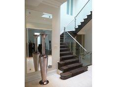 Glass Railing (G-RL25) Combination of clear glass and metal. #decor #interior #interiordesign #homedesign #homestyle #homewares #interiorinspiration #cbdglass