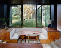 Vienna Way / Marmol Radziner :: sunken banquette Banquettes, Home Interior, Interior Architecture, Interior Design, Interior Windows, Dining Nook, Dining Room Design, Design Room, Dining Table