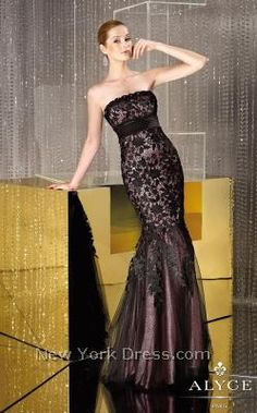 Alyce 29531 - NewYorkDress.com i wish i could see it in black/champagne