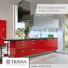 Give new life to your home by getting a modular #kitchen. Ensure you get the best of style and efficiency at Trisha. http://www.trisha.co.in/trisha-kitchens.html