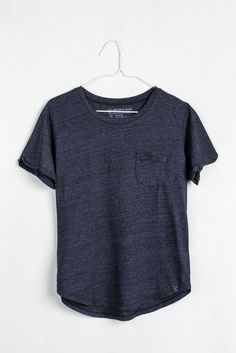 Crafted from a sustainable blend of recycled polyester, organic cotton and rayon, this lightweight tee has a draped, relaxed fit. Made in USA. For every product