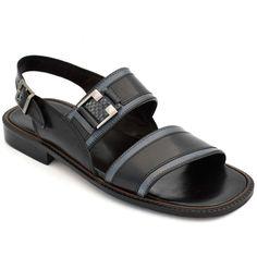19d34c603f2 Buy Online Swanky Black Leather Floater Sandal For Men