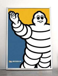 Don't be surprised. We wear Michelin. Vintage Advertising Posters, Vintage Advertisements, Vintage Posters, Michelin Man, Michelin Tires, Pub Vintage, Vintage Signs, Pop Art, Garage Art