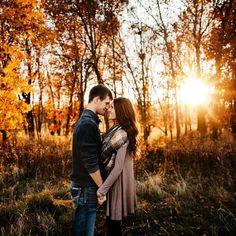 Nebraska fall engagement session. Brett Brooner Photography.