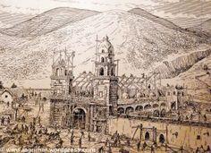 San Francisco: Construcción en proceso de la Iglesia San Francisco de Quito