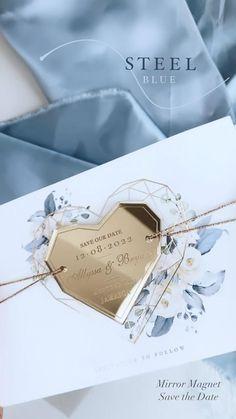 Cute Wedding Ideas, Wedding Goals, Diy Wedding, Wedding Planning, Dream Wedding, Wedding Day, Monogram Wedding, Blue Wedding, Acrylic Wedding Invitations