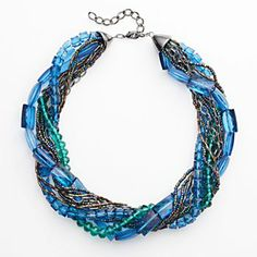 Apt. 9 Two Tone Bead Multistrand Necklace