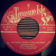 Norman Grant / Matthew Mark Luke & John / Treasure Isle (D&B Far East Records)  Matthew Mark Luke and John Bless the bed that I lie on   #NormanGrant #TwinkleBrothers #DukeReid #Rocksteady #TreasureIsle #MatthewMarkLukeandJohn #BlackPaternoster #Jamaica  #vintage #vinyl #wax #music #groove #nowspinning #record #recordcollection #recordlabel #tune #nowplaying #dj #djying #45rpm #45 #7inches #cratedigging by ehonin