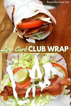Low Carb club wraps Low Carb club wraps use deli ham and turkey for the outside wrap and filled with cheese bacon shredded lettuce pickles tomatoes and ranch to make gluten-free and keto club rollups. Lunch Recipes, Meat Recipes, Low Carb Recipes, Cooking Recipes, Healthy Recipes, Turkey Wrap Recipes, Turkey Wraps, Primal Recipes, Paleo Meals