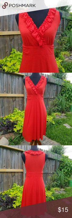 """Coral International Concept Dress coral color dress 65% polyester, 35% rayon, lining: 57% cotton, and  43% rayon Top to Bottom 37"""""""" Bust 36"""" waistline 30"""" International Concept Dresses High Low"""