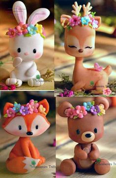 Got clay? Get creative with these 10 clever clay ideas! Polymer Clay Figures, Cute Polymer Clay, Polymer Clay Animals, Cute Clay, Polymer Clay Crafts, Diy Clay, Fondant Animals, Clay Charms, Clay Projects