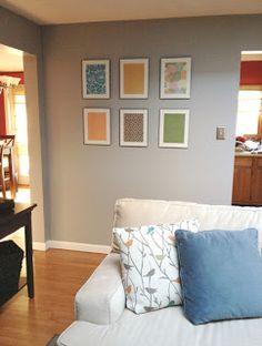 Sohl Design: Framed Scrapbook Paper Wall Art