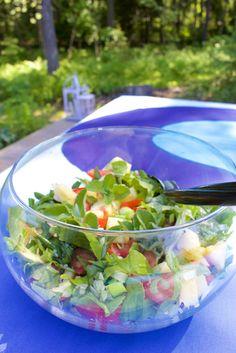 Hämmentäjä: Fruity mint salad. Perfect for BBQ. Hedelmäinen minttusalaatti grillipöytään