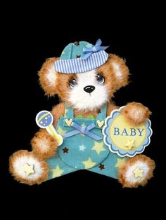 Mommys-Baby-Boy-Tear-Bear-Paper-Piecing-Premade-Scrapbook-Page-Album-Card