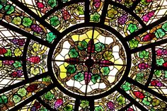At the conservatory in Casa Loma, a beautiful castle in Toronto. The colours looks extra vibrant with the sun shining through the glass! Beautiful Castles, Toronto Canada, Conservatory, Beautiful Images, Ontario, Stained Glass, Places To Visit, Colours, Sky