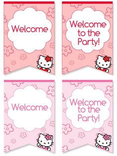 Free Hello Kitty Welcome Sign for Birthday Parties from PrintableTreats.com