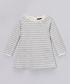 This Gray Heather Stripe Swing Dress - Girls by GIL & JAS is perfect! #zulilyfinds