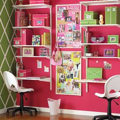 Pretty homework area for girly teens