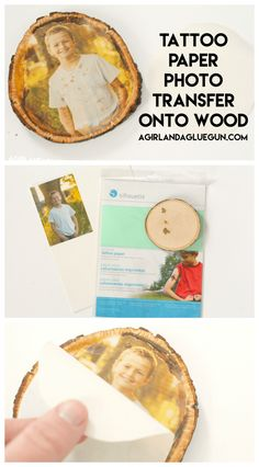 Check out this awesome how to-photo transfer to wood ! 4 different ways to achieve this cool affect! One has things found from around the house, mod podge, inkjet or laser printer! Lots of options! Picture Onto Wood, Picture Transfer To Wood, Wood Transfer, Wax Paper Transfers, Tattoo Transfer Paper, Image Transfers, Glue Gun Crafts, Mod Podge Crafts, New Crafts