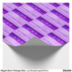 Hippie Retro Vintage Chic Love Purple Wrapping Paper Cool Gifts, Unique Gifts, Hippie Lifestyle, Engraved Gifts, Custom Wrapping Paper, Hippie Chic, Keep It Cleaner, Retro Vintage, Wraps