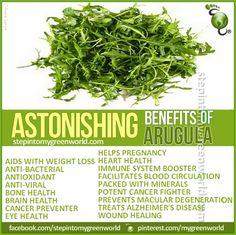 Arugula/ Rocket health benefits