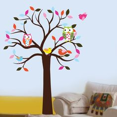 Colorful Leaf Tree Decal from etsy, $99.00