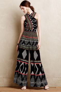 Amapa Jumpsuit by Elevenses Black Motif from Anthropologie. Kurti Designs Party Wear, Kurta Designs, Blouse Designs, Indian Fashion Dresses, Indian Outfits, African Fashion, African Style, Mode Outfits, Fashion Outfits