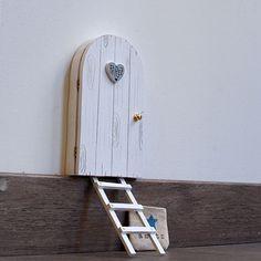 Puerta De Madera Mdf Hada Puerta Elfo Pixie puerta Tamaños Variados Artesanía En Blanco