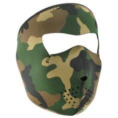 WNFM118 Woodland Camouflage Neoprene Face Mask - Full Mask - C41123UVTMF 7120d7d737