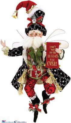 Mark Roberts The Humbug Fairy 53336 Small 12 New 2015 Mark Roberts Elves, Mark Roberts Fairies, Elf Christmas Decorations, Christmas Ornaments, Christmas Ideas, Holiday Decor, Santa Head, Elves And Fairies, Fairy Figurines