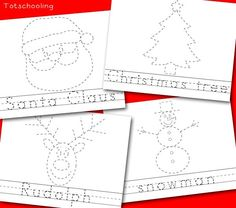 Christmas Picture & Word Tracing Printables (Love to Learn Linky #22) | Totschooling - Toddler and Preschool Educational Printable Activities