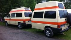 T4 camper with matching trailer