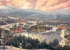Thomas Kinkade - Sunset on Snowflake Lake - 1000 Piece Jigsaw Puzzle Gibson Games http://www.amazon.de/dp/B018FPKWI6/ref=cm_sw_r_pi_dp_80mfxb07TJ193