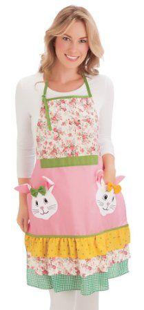 Floral Bunny Pocket Easter Apron