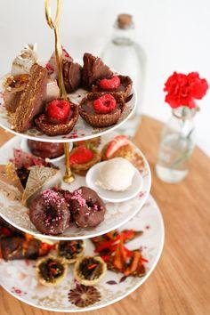 high-tea at Sadhana Enmore Sydney. Coconut Bacon, Coconut Milk, Red Velvet Cheesecake, Sydney Food, No Bake Desserts, High Tea, Raw Vegan, Places To Eat, Amazing Cakes