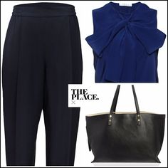 The stylish choice of the day, a #Chloe total look, available at The Place X. http://theplacex.com/the-designers/chloe/bow-sleeveless-top.html