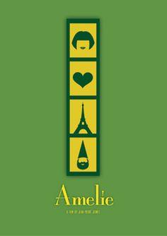 """Minimalist movie posters """"Le fabuleux destin d'Amélie Poulain"""""""