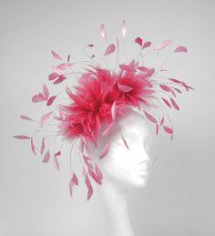 Pink Fascinator Kentucky Derby or Wedding Hat by Hatsbycressida.