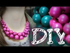 DIY Statement Kette aus großen Perlen - Hingucker - super easy - YouTube