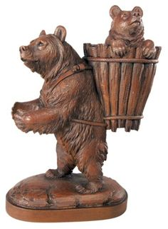 Trudging Mama Bear  from www.wellappointedhouse.com #homedecor #decorate #redecorate #librarydecor #library