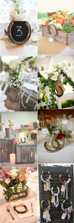 rustic country farm wedding ideas / http://www.deerpearlflowers.com/rustic-farm-wedding-horseshoe-ideas/