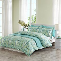 Echo Design® Kelly Paisley Quilt Mini Set in Aqua Multi